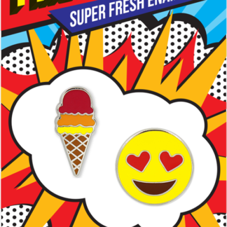 Pincredible Pins Emoji Heart Eyes & Ice Cream Cone
