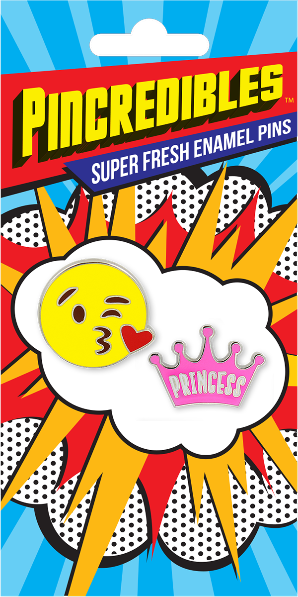 Pincredible Pins Emoji Blow a kiss & Princess Crown