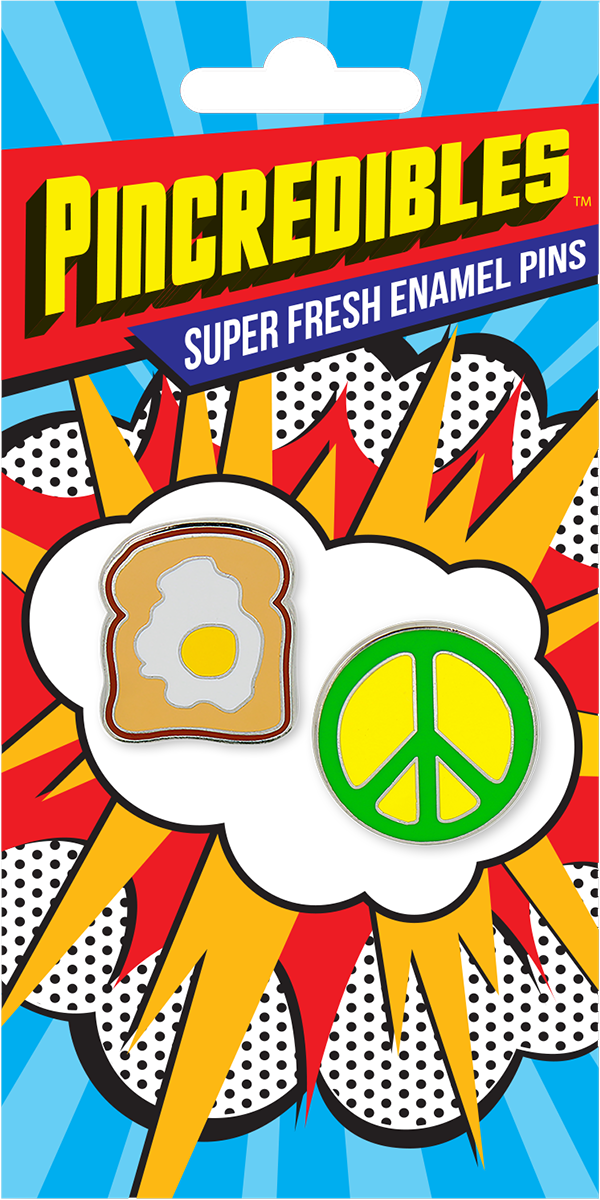 Pincredible Pins Peace Sign & Eggs and Toast