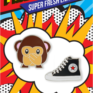 Pincredible Pins Emoji Speak No Evil Monkey & Classic Sneaker