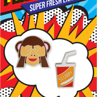 Pincredible Pin Emoji - See No Evil Monkey and Slurp Cup