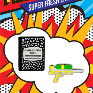 Pincredible Pins Composition Notebook & Water Gun