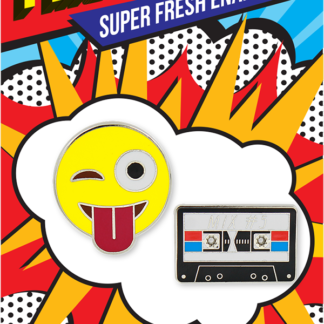 Pincredible Pins Cassette Tape & Emoji Crazy Face