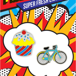 Pincredible Pins Cupcake & Bicycle