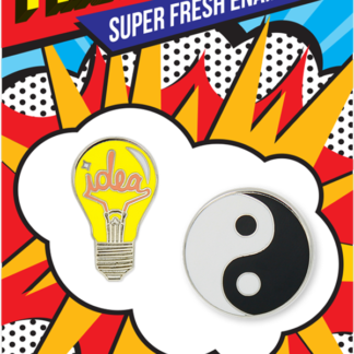 Idea Light Bulb & Yin Yang Enamel Pins